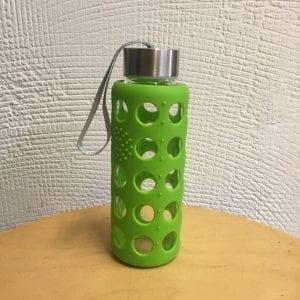 Botella vidre amb protector silicona